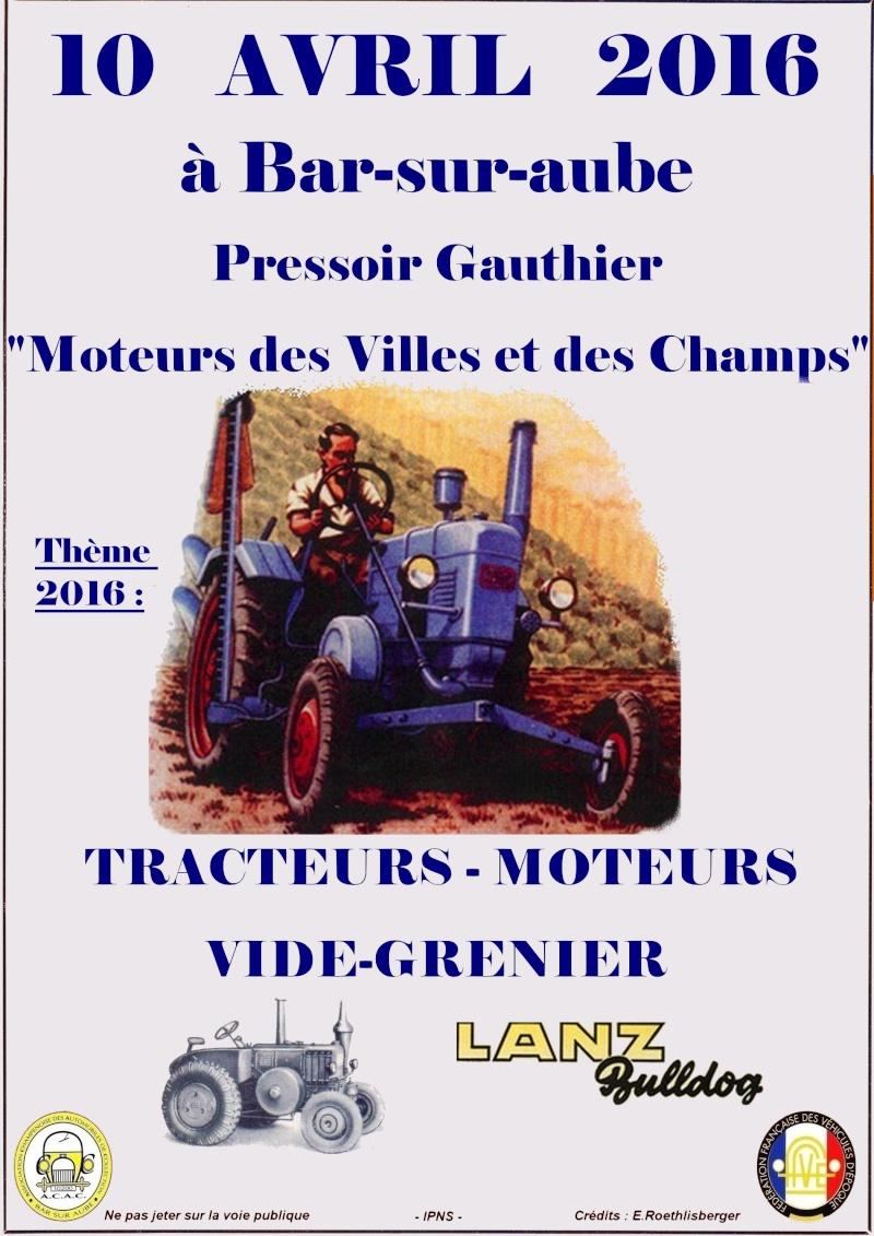 Moteurs des Villes et des Champs à Bar sur Aube 10 Avril Affich10