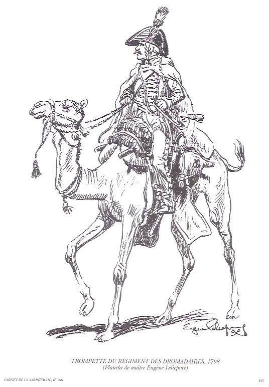 Trompette du Régiment des Dromadaires en 1800 (180 mm) Numyri10