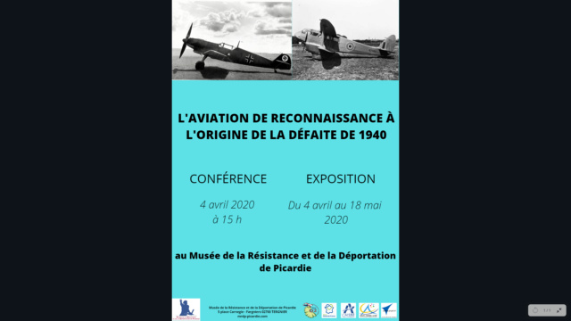 """Les conférence et exposition sur """"La drôle de guerre"""" vue du ciel ! Flyers12"""