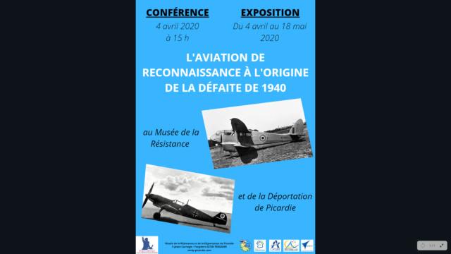 """Les conférence et exposition sur """"La drôle de guerre"""" vue du ciel ! Flyers13"""