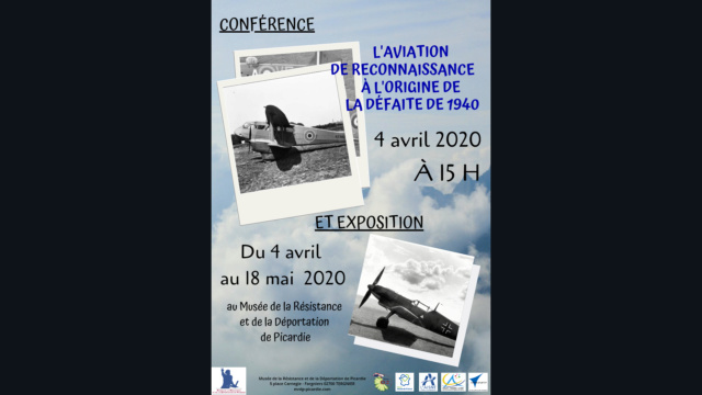 """Les conférence et exposition sur """"La drôle de guerre"""" vue du ciel ! Flyers14"""