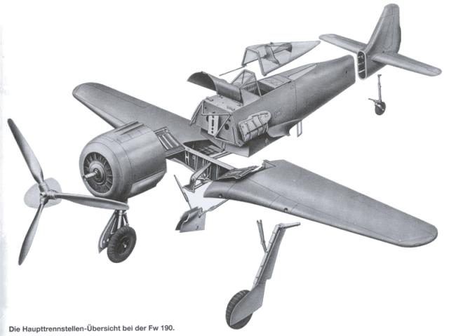 Construction du Fockewul 190 de Karl Achenbach Trenns10