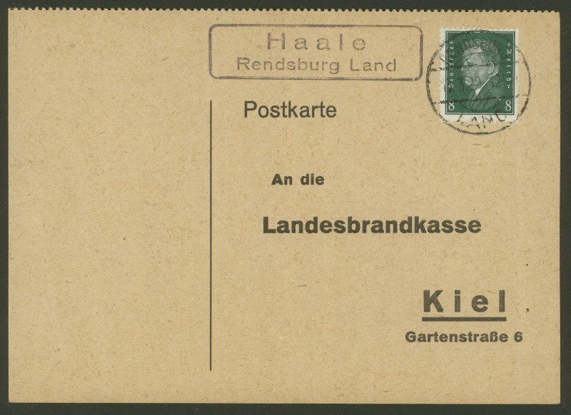 nach - Deutschland  -  Landpoststempel (Poststellenstempel) - Seite 2 Haale_12