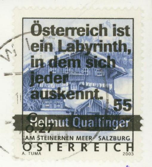 """Druckdaten der Überdruckmarken """"Ferienland Österreich"""" Marke_11"""