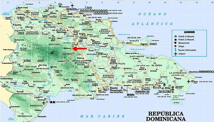 Jarabacoa - Rep Dominicaine Carte10