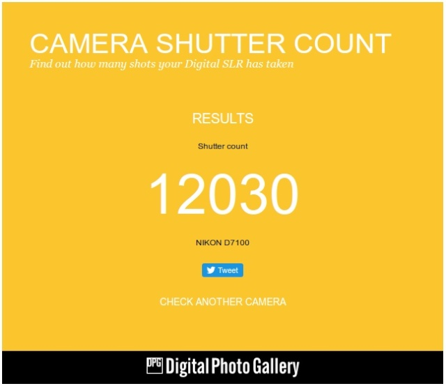 Camera shutter count Sylect11