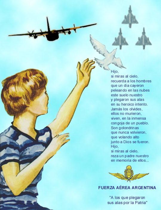 Reconocimiento al valor de nuestros pilotos en Malvinas. Lamina11
