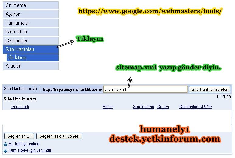 Google a site haritası ekleme - Kesin Çözüm 117