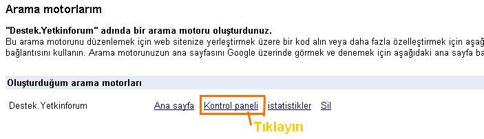 Sitenize Özel Google Arama motoru 510