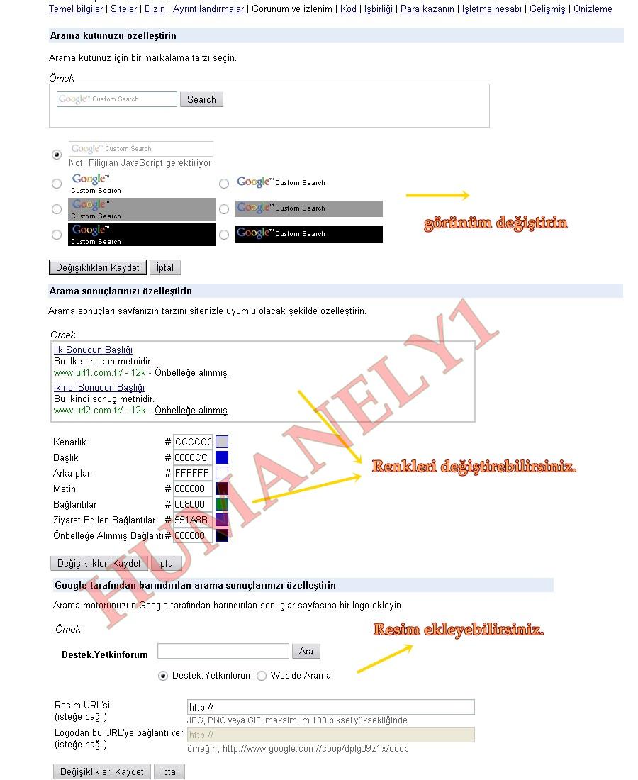Sitenize Özel Google Arama motoru 810