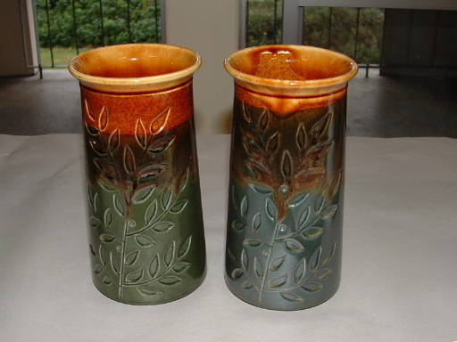 John's Pair of Greenstone Vases shape 2033 Pair_g10