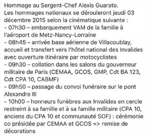 décés du sergent-chef Alexis GUARATO 41639911