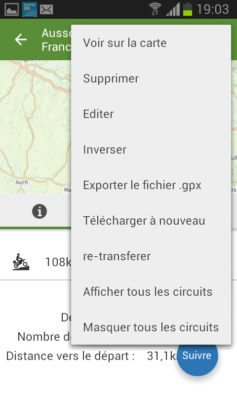 VIEWRANGER, Application GPS TRACE Screen10