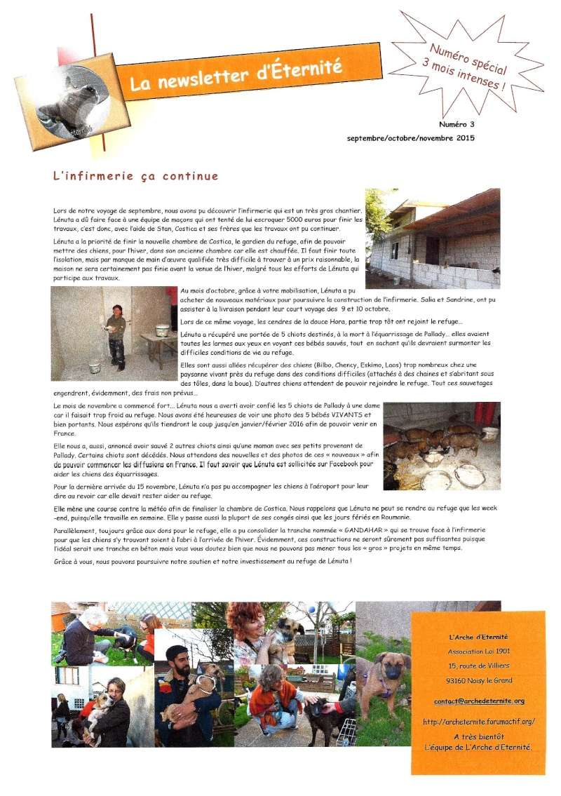 LA NEWSLETTER D'ETERNITE MENSUELLE 2015_n10