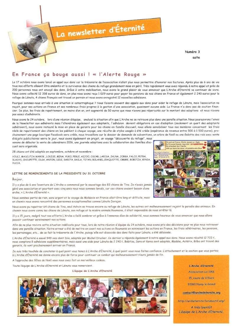 LA NEWSLETTER D'ETERNITE MENSUELLE 2015_n11