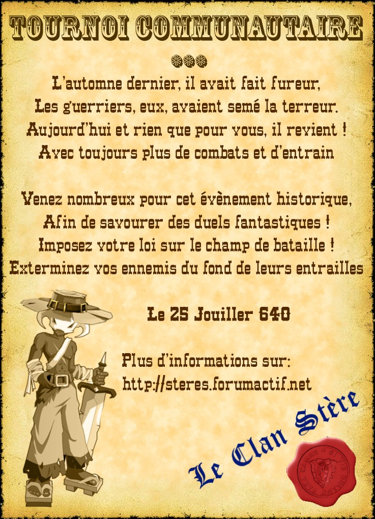 [Event] Tournoi Communautaire #2 Tourno12