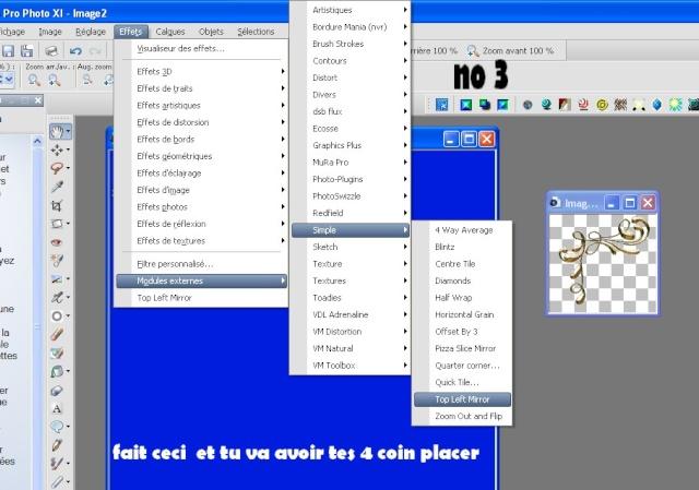 Bordure filtre simple de Nall + placer les coins No_310