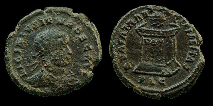 LICINIUS II pour Lyon, 1ère monnaie connue Licini11