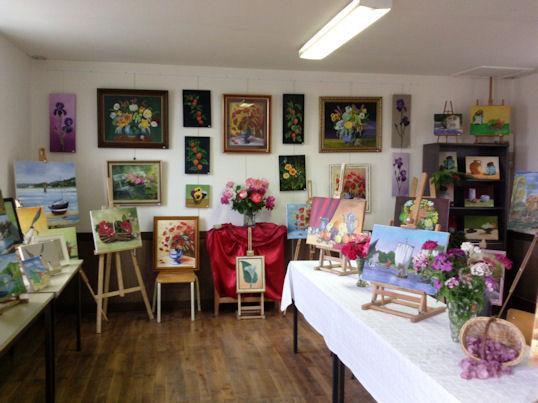 Exposition des Ateliers 2010 à Cunault ... Les_ta11