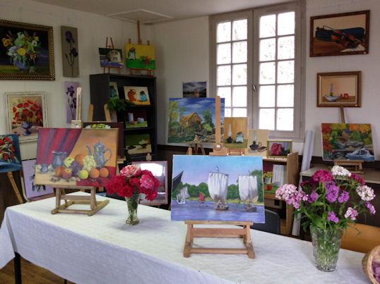 Exposition des Ateliers 2010 à Cunault ... Les_ta13