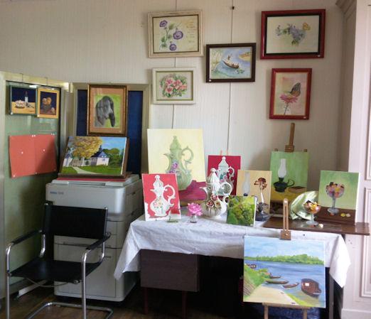 Exposition des Ateliers 2010 à Cunault ... Les_ta15