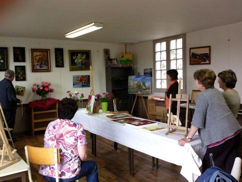 Exposition des Ateliers 2010 à Cunault ... Vernis10