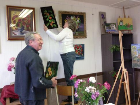 Exposition des Ateliers 2010 à Cunault ... Vernis12