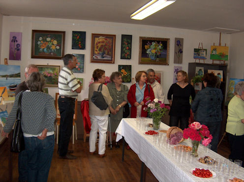 Exposition des Ateliers 2010 à Cunault ... Vernis15