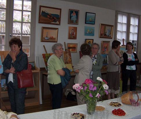 Exposition des Ateliers 2010 à Cunault ... Vernis16
