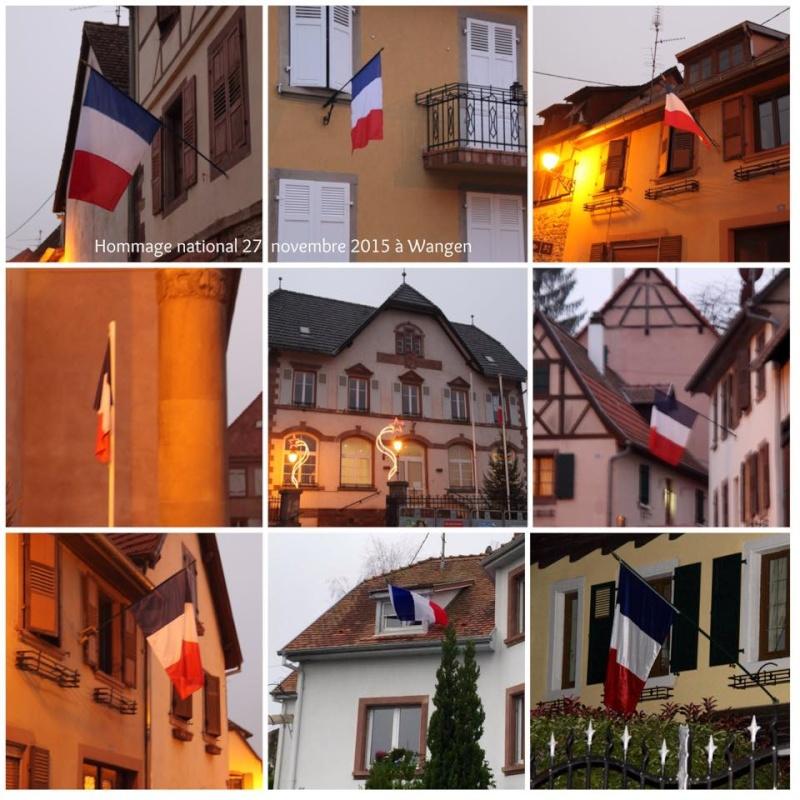 Wangen rend hommage à Paris après les attentats du 13 novembre 2015 12316210