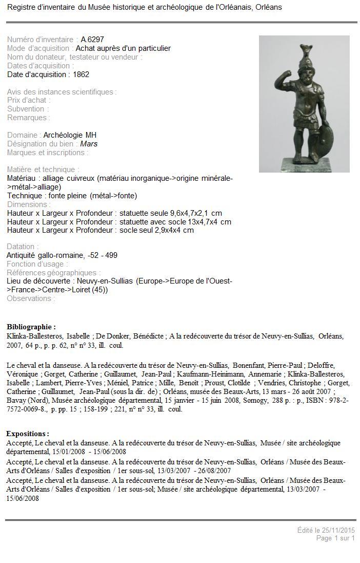 Il existerait des statues représentant Postume, Victorin et Tetricus ... 310