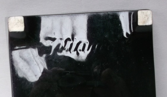 Titian black footed dish Dscf2325