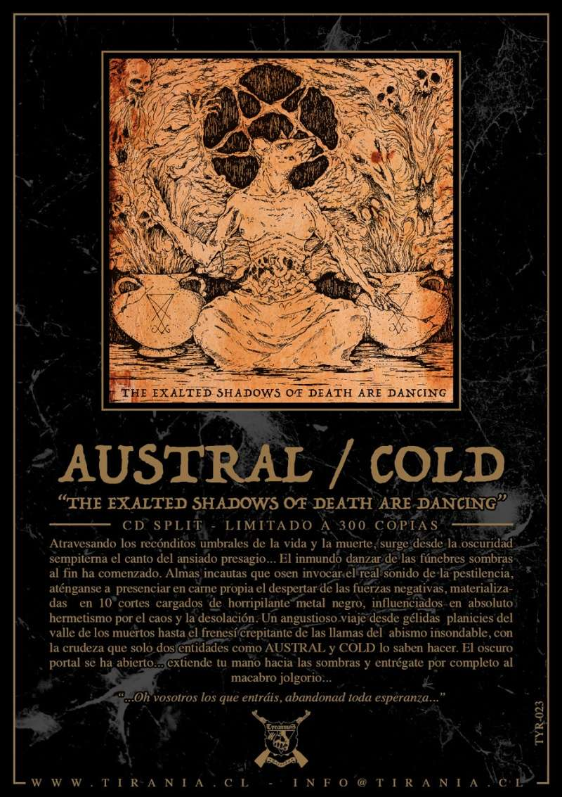 AUSTRAL/COLD -The Exalted Shadows of Death Are Dancing-  SPLIT CD DISPONIBLE AHORA! Espano10