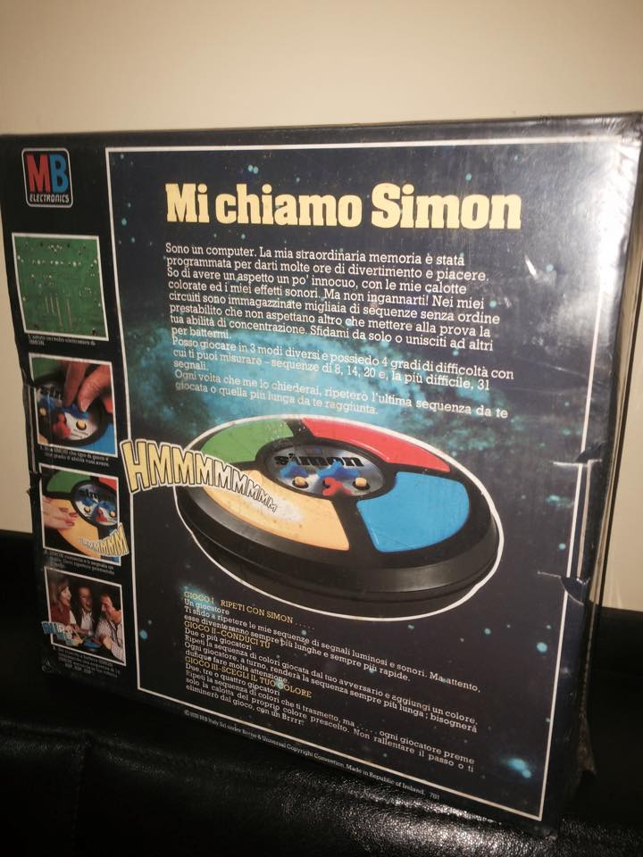 VINTAGE Simon GIOCO NUOVO ULTRA RARO ! MB Giochi retro' 70/80 epoca Goldrake 10389310