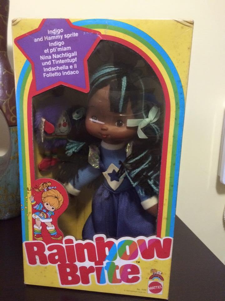 Iridella Rainbow Brite INDIGO Regina regenbogen MATTEL purple doll 80 vintage 12002810
