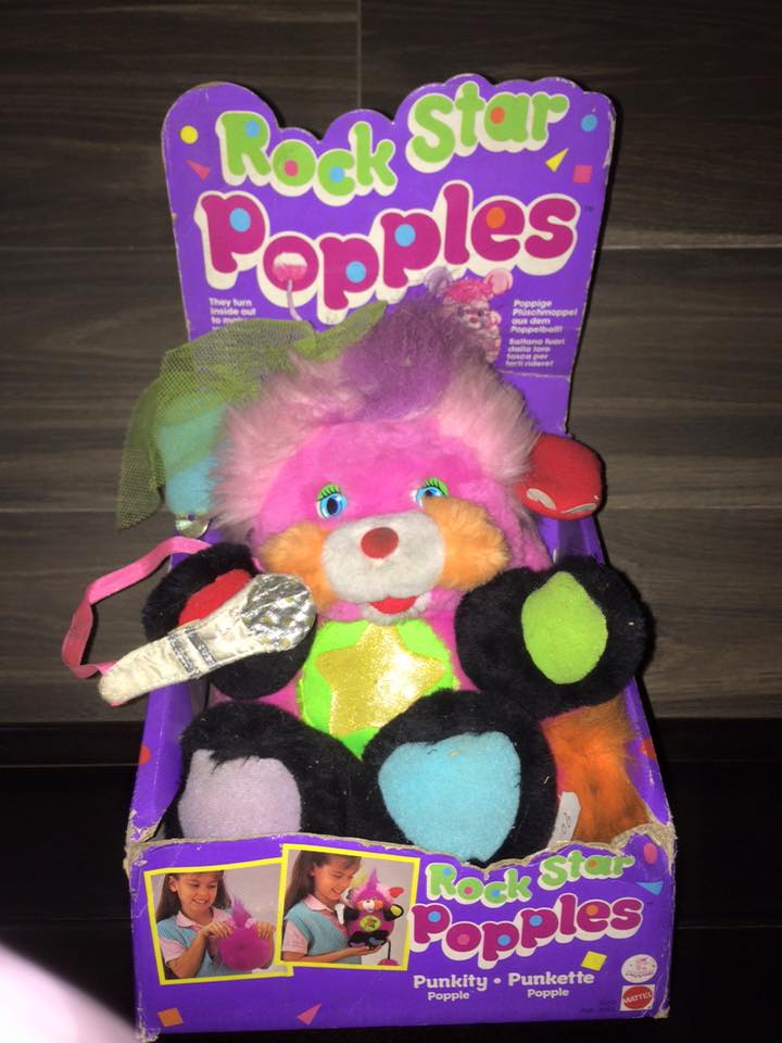POPPLES anni 80 fondi di magazzino 8 pupazzi ROCK STAR PUNKSTER POPPLE MATTEL 12027810