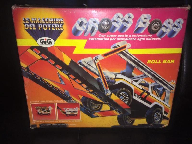 GIG CROSS BOSS ROLL BAR GIG Galoob 1985 BLU e BIANCA LE MACCHINE DEL POTERE 12063711