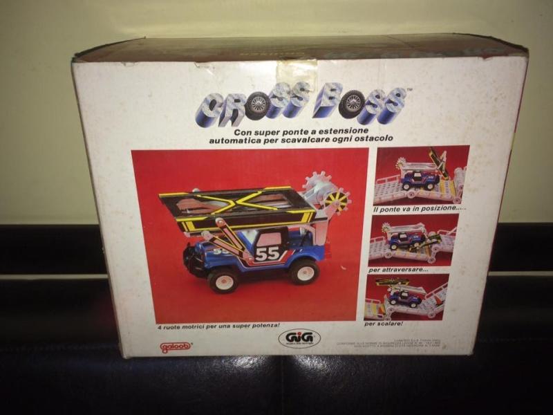 GIG CROSS BOSS ROLL BAR GIG Galoob 1985 BLU e BIANCA LE MACCHINE DEL POTERE 12065911