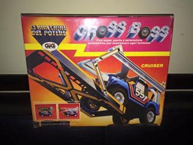 GIG CROSS BOSS ROLL BAR GIG Galoob 1985 BLU e BIANCA LE MACCHINE DEL POTERE 12074710