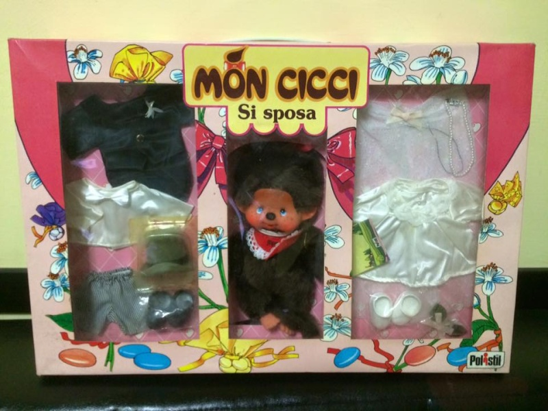 Bambola Polistil Doll Mon cicci Moncicci' Doll Kiki Coffret Mariés MIB 70 80 12122910