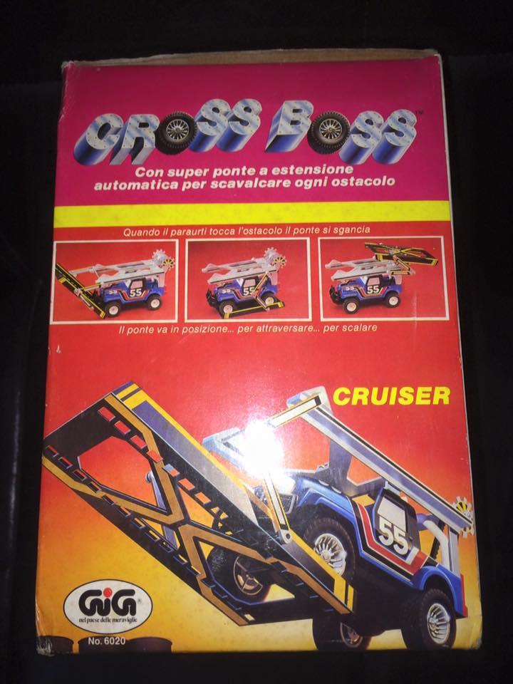 GIG CROSS BOSS ROLL BAR GIG Galoob 1985 BLU e BIANCA LE MACCHINE DEL POTERE 12143110
