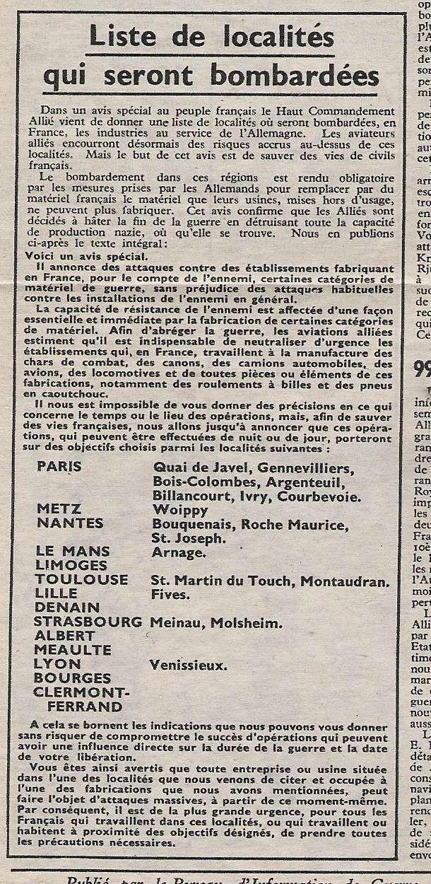 JOURNAL L'AMERIQUE EN GUERRE Bombar10