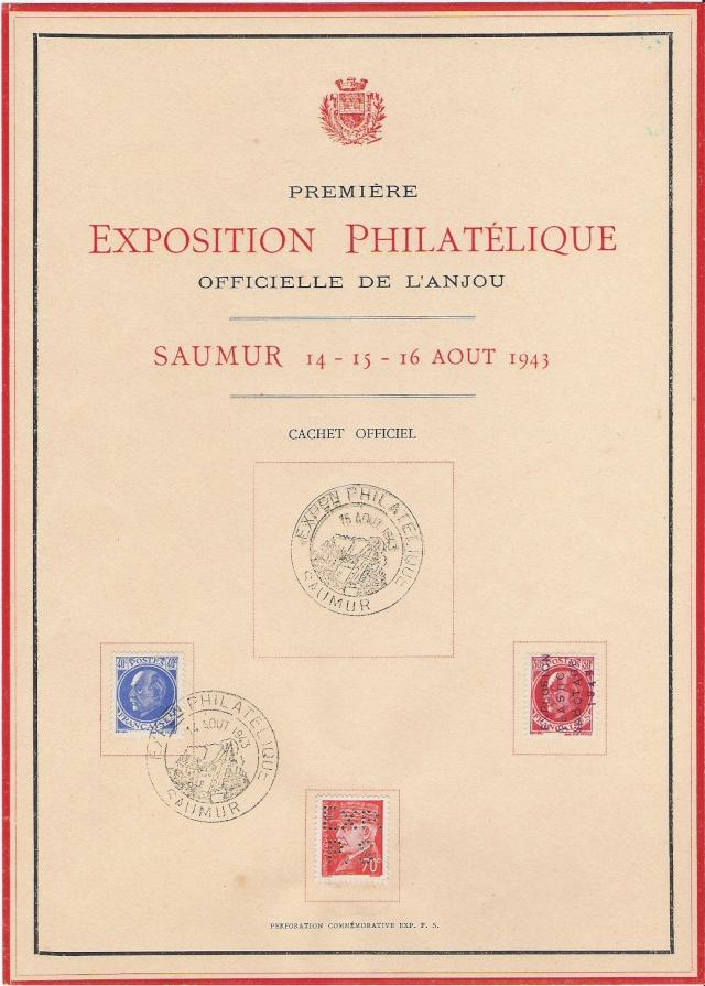 EXPOSITION PHILATELIQUE SAUMUR AOUT 1943 Exposi10