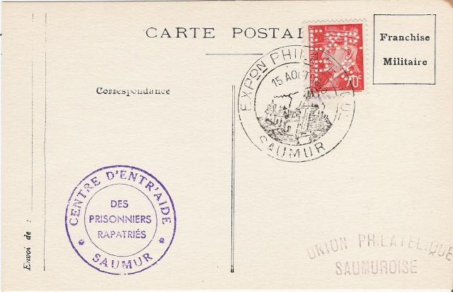 EXPOSITION PHILATELIQUE SAUMUR AOUT 1943 Saumur10