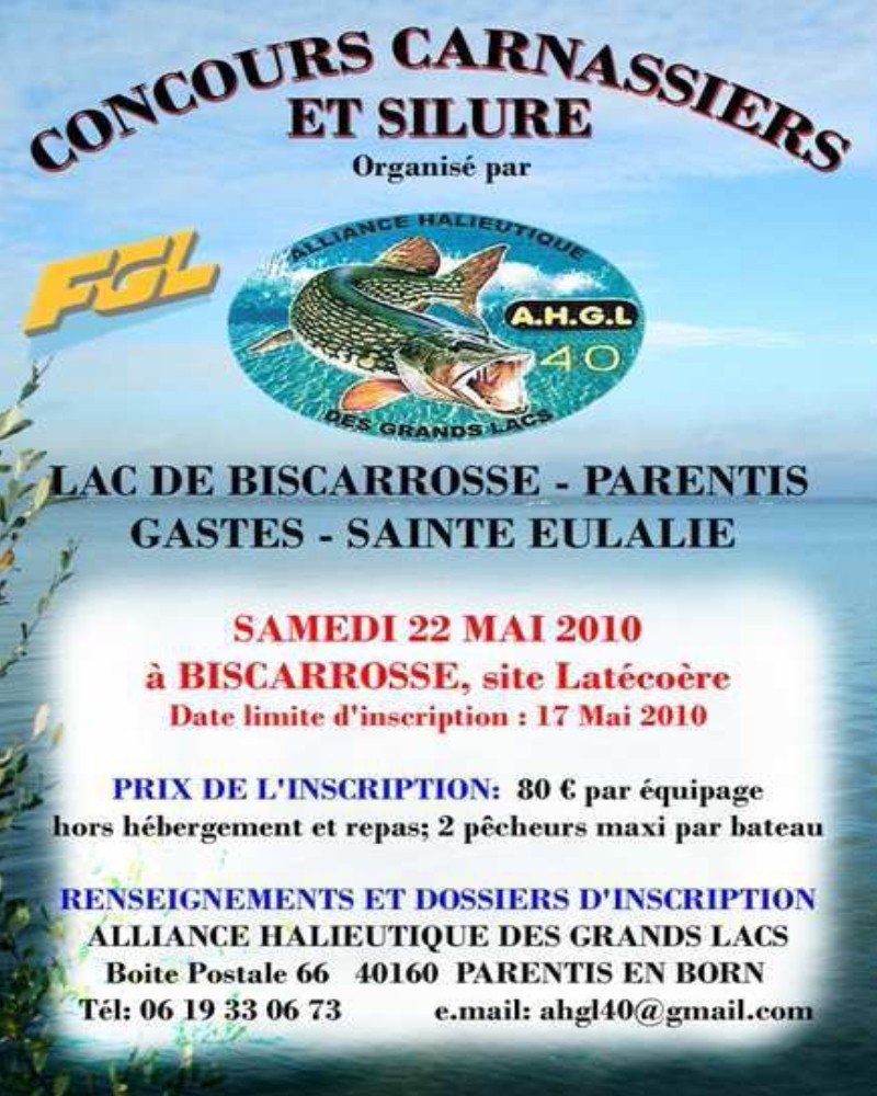 Concours pêche carnassiers Biscarosse Affich10