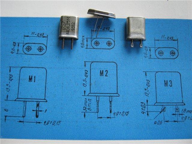 Кварцы в металлических корпусах Б1-Б3, М1-М3 Aedi_110