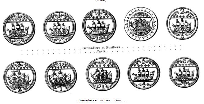 Troupes bourgeoises et irrégulières de la 2e division et 7e bataillon de grenadiers - Fusiliers de la ville de Paris, de 1789 à 1790  Grenad10