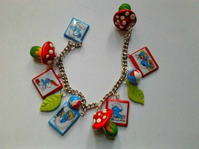 création de bijoux schtroumpfs Bijou10