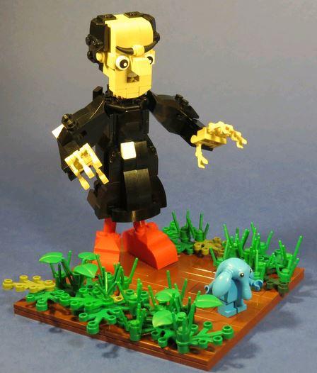 village et schtroumpf en légo Lego110