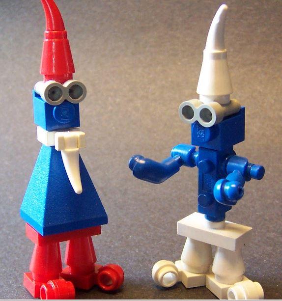 village et schtroumpf en légo Lego310